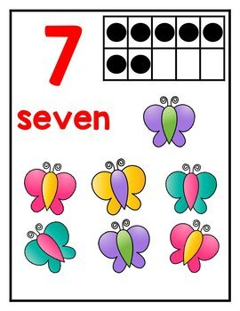 Number Posters 1-20 *Bugs and Animals*