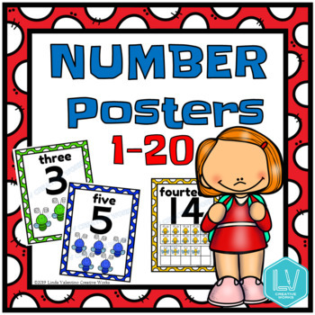 Number Posters 1-20 - Preschool Primary Posters