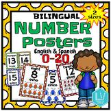 Bilingual Number Posters 1-20