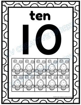 Number Posters 1-20 Black & White