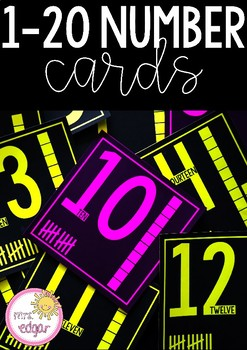 Number Posters 1 -20 | Bright and Bold: