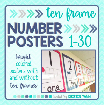 Number Posters 1-20: Brights