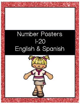 Number Posters 1-20 English & Spanish
