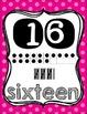 Number Posters {1-20} English set & Spanish set!! ~ Pink
