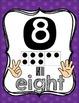 Number Posters {1-20!} English set & Spanish set!! ~ Purple