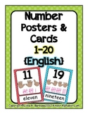 Number Posters 1-20 (English)