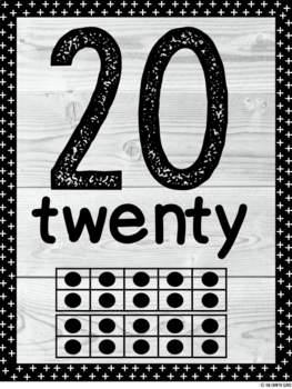 Number Posters 1-20 (Farmhouse/Shabby Chic)