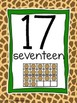 Number Posters 0-20 Jungle Theme