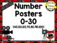 Number Posters 0-30 ~ Hollywood Theme, Movie Theme