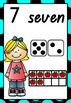 Number Posters 1-20 Kids Theme QLD Beginners Font