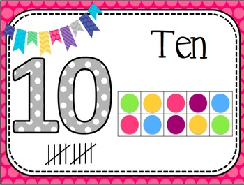 Number Posters 1-20 - Pattern