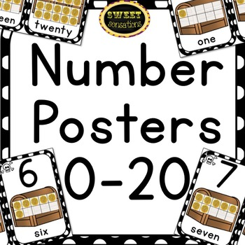 Number Posters 1-20 (Pirate Theme)