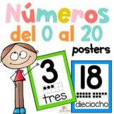 Number Posters 1-20 SPANISH Números del 1 al 20