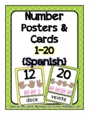 Number Posters 1-20 (Spanish)