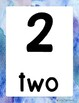 Number Posters 1-20 Watercolor Themed