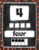 Number Posters 1-20 in Chalkboard Polka Dot Style