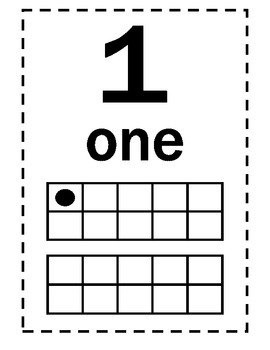 Number Posters (1-20) with Number Words and Ten Frames