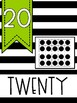 Number Posters 1-20 with Ten Frames [Black & Lime Green]