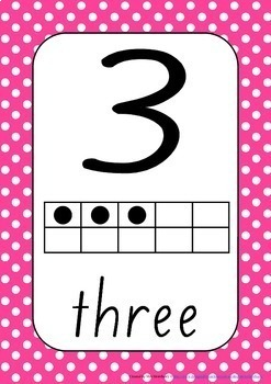 Number Posters 0-30 With Ten Frames {Numbers to 30} Polka Dots