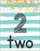 Number Posters 1-30 (Aqua Stripes)
