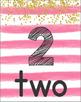 Number Posters 1-30 (Mint & Pink Stripes Bundle)