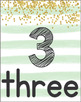 Number Posters 1-30 (Mint Stripes)