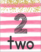 Number Posters 1-30 (Pink Stripes)