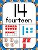 Number Posters 1-30 Plus Bonus Cards ~ Sport Theme