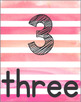 Number Posters 1-30 (Watercolor Pink)