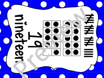 Number Posters - 1 through 20 with ten frames and tally marks in color