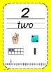 Number Posters 1 to 20 Qld Font