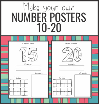 $1 Deal Number Posters 10-20
