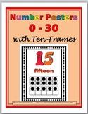 Ten Frames Number Posters 0-30