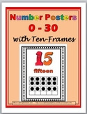 Ten Frames Number Posters - Numbers 1-30
