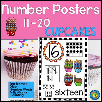 Numbers 11 - 20 Math Anchor Charts ~ Kindergarten Common C