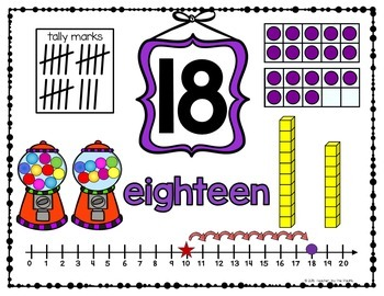 Gumball Math - Number Anchor Charts 11-20