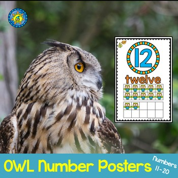 OWL Math Ten Frame Number Posters 11-20 ~ Kindergarten Common Core