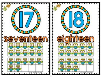 OWL Math Ten Frame Number Posters 11-20 ~ Kindergarten Common Core