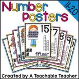 Number Posters 11-20 - Number Word, Ten Frame, Tally Marks