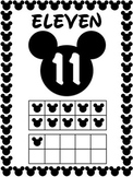 Number Posters 11 to 20 - Mickey Mouse Theme - Disney Classroom Decor