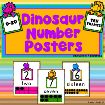 Dinosaur Number Posters (0-20 with Ten Frames)