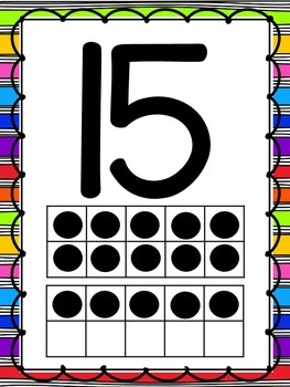 Bright, Rainbow Number Posters (0-20)