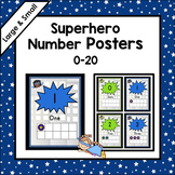 Superhero Theme * Superhero Theme Number Posters