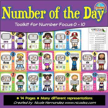 Number of the Day Posters - Toolkit for Numbers 1 to 10