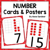 Number Posters 1 - 20 with Ten Frames