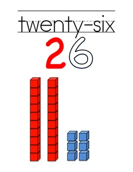 Number Posters 21-30 Red/Black