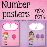 Number Posters- NSW Foundation Font