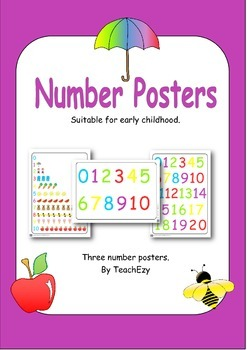 Number Posters A3 size