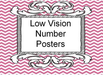 Number Posters Activity 1-15 Low Vision Freebie