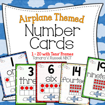 Number Posters {Airplane Themed}